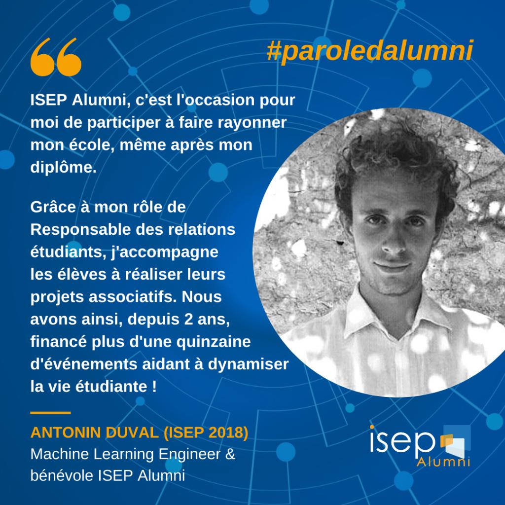 Parole d'alumni - Antonin DUVAL